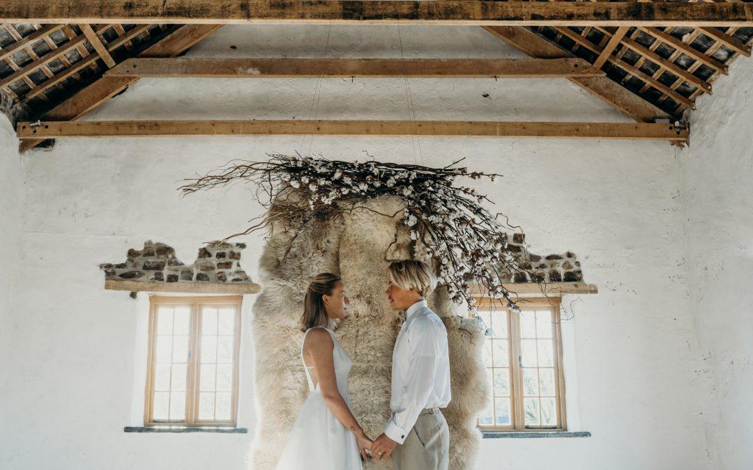 Modern Barn Wedding