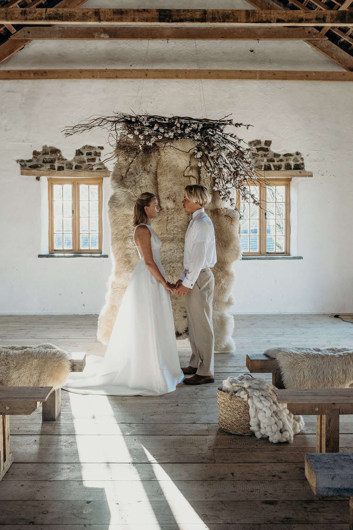 sheepskin ceremony backdrop