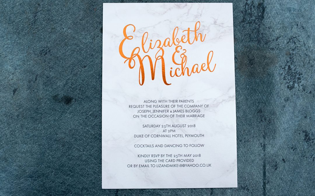 A Simple Guide to Foil Printed Wedding Stationery