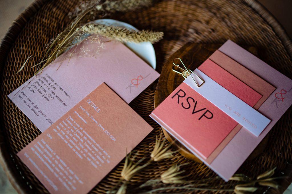 modern prarie wedding invitations