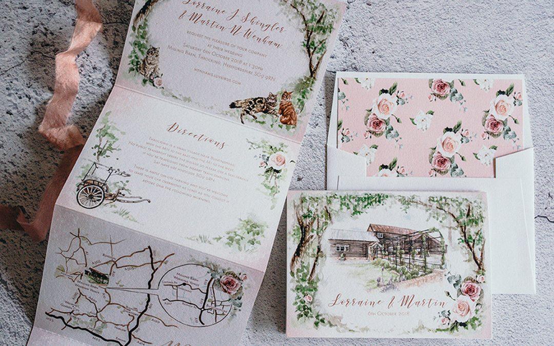 How I Create My Bespoke Wedding Venue Illustrations