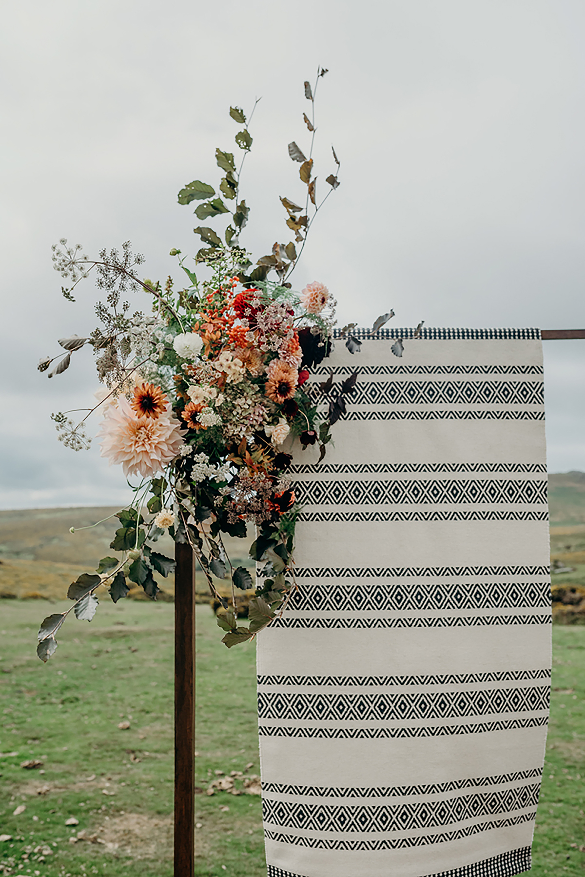 floral and fabric ceremony backdrop luxury festival wedding